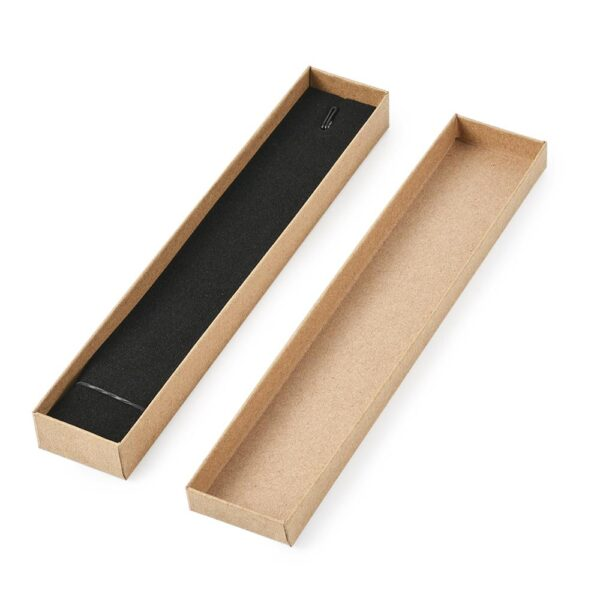 12 pcs 21x4x2cm Rectangle Cardboard Jewelry Set Box for Ring Necklace gift boxes for jewellery packaging with Sponge inside F70