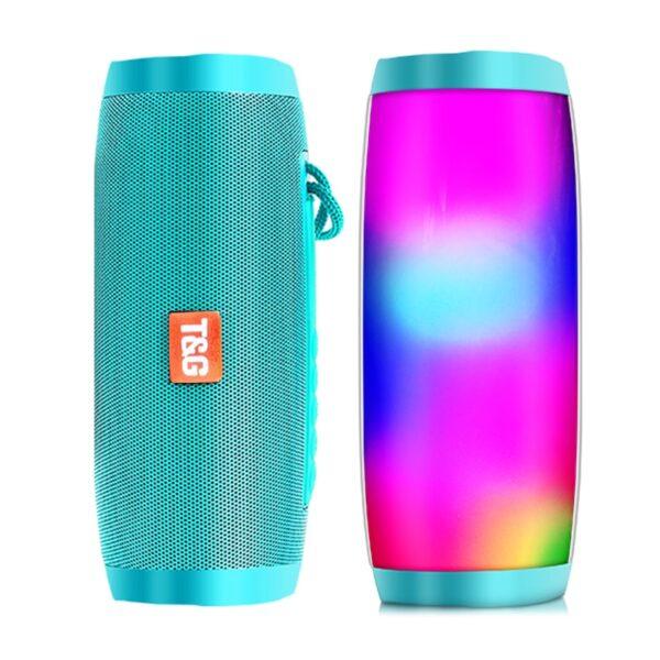 Wireless Bluetooth Speaker Portable Speaker Bluetooth Powerful High BoomBox Outdoor Bass HIFI TF FM Radio with LED Light