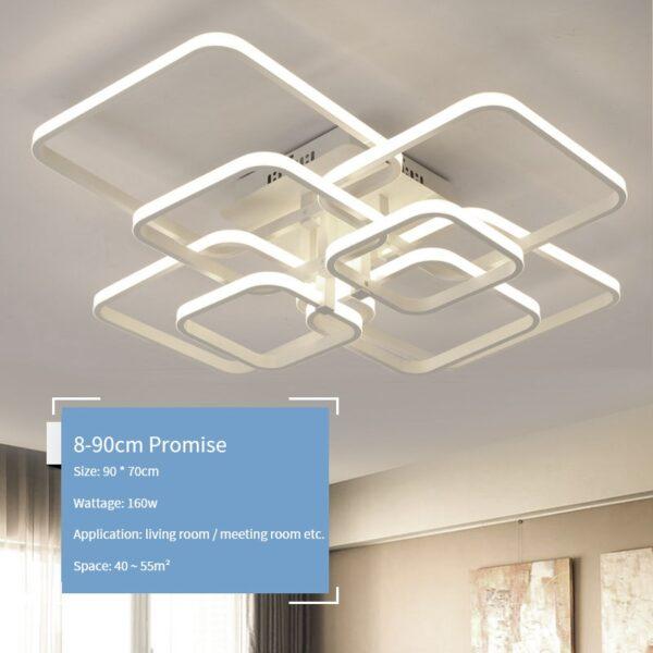 New led Chandelier Lights For Living Room Dining Kitchen Bedroom Home Modern Rectangle Ceiling Lamp Lighting Fixtures