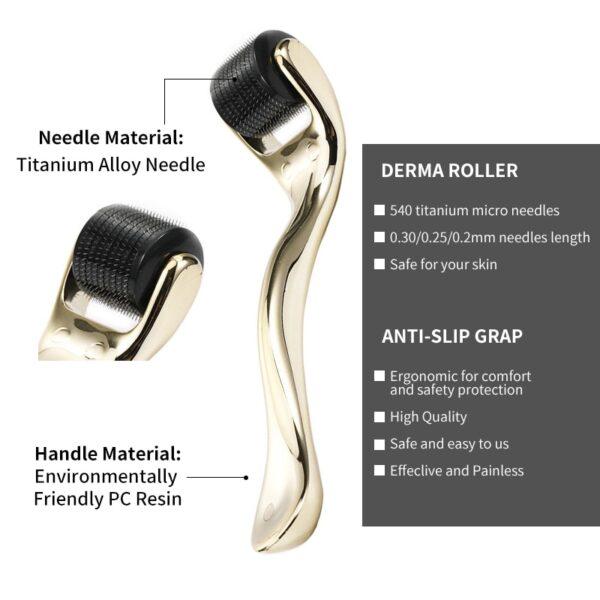 DARSONVAL DRS 540 derma roller micro needles titanium mezoroller microneedle machine for skin care and body treatment
