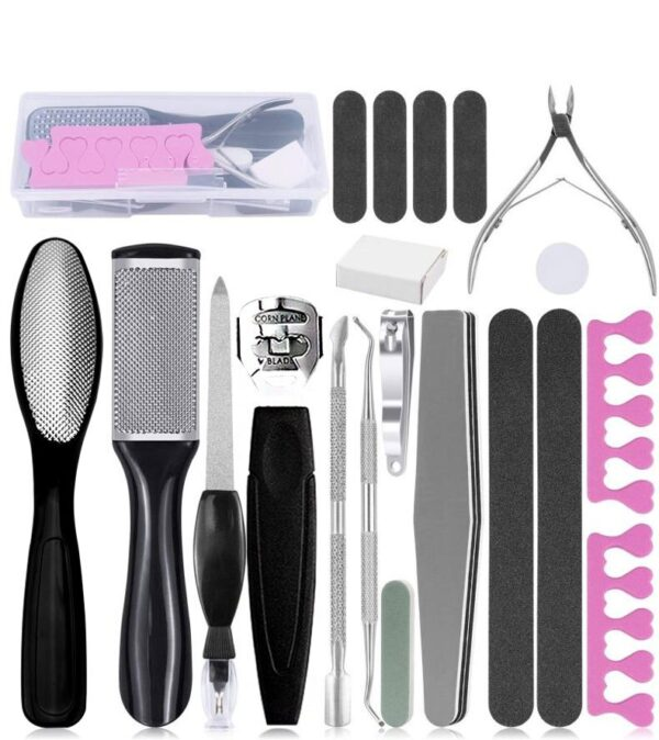Nail Clamp Knife 20 sets of grindstone set to remove dead skin calluses pedicure scrapes cleanBlackheads and blemi beauty tools