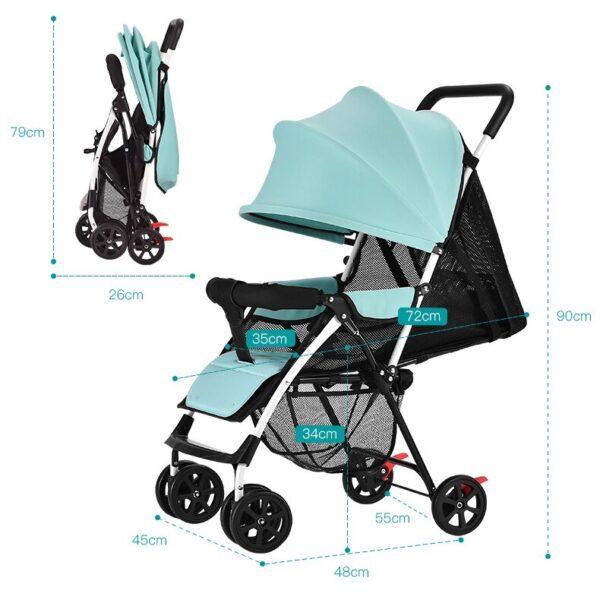 2020 lightweight portable baby stroller can sit lie summer simple folding pram travel systems BB four-wheeled umbrella trolley