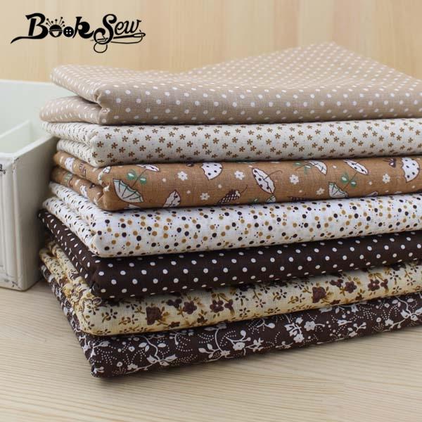 Booksew cotton fabric Free shipping 50 pieces/lot 20cmx25cm charm pack patchwork bundle fabrics tilda cloth sewing DIY tecido