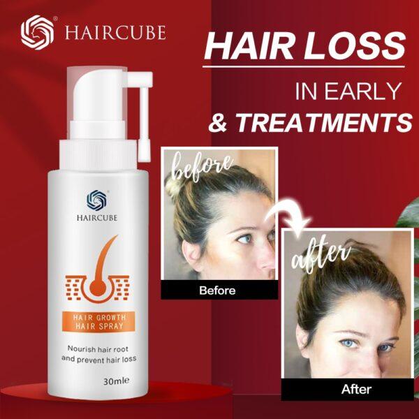 HAIRCUBE Hair Growth Spray Essential Oil Liquid Anti Hair Loss Essence Serum for Hair Growth Oil Natural Hair Care Products