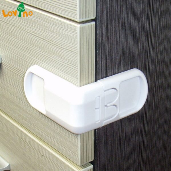 10PCS Drawer lock for children Safety lock baby door Safety buckle Prevent open drawer cabinets Anti pinch hand protect