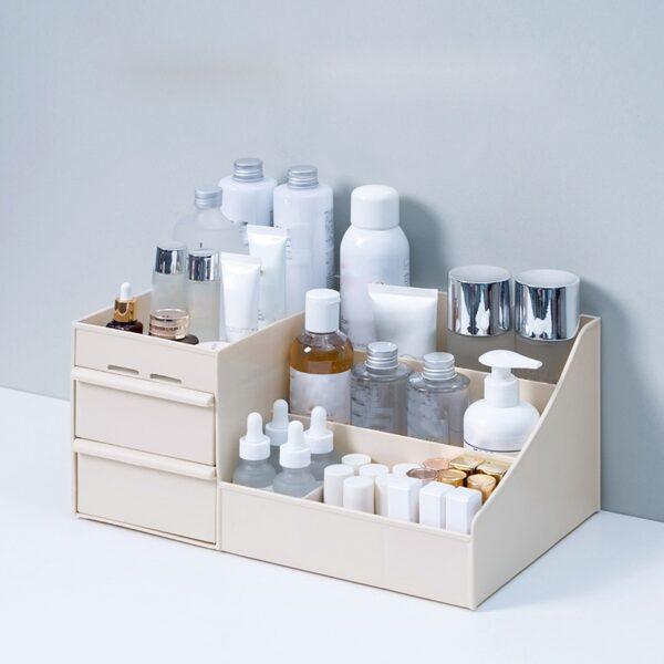 Large Capacity Cosmetic Storage Box Makeup Drawer Organizer Jewelry Nail Polish Makeup Container Desktop Sundries Storage Box