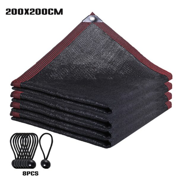 90% Shade Fabric Sun Shade Cloth Waterproof Garden Netting Mesh with Grommets for Pergola Cover Canopy with Bungee Balls