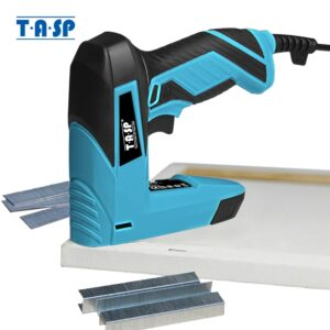 TASP 230V 2 in 1 Electric Nailer and Stapler Furniture Staple Gun for Frame with Staples&Nails Carpentry Woodworking Power Tools