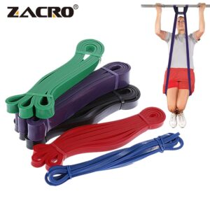 Zacro Fitness Rubber Bands Resistance Band Unisex 208Cm Yoga Elastic Bands Loop Expander for Exercise Sports Equipment