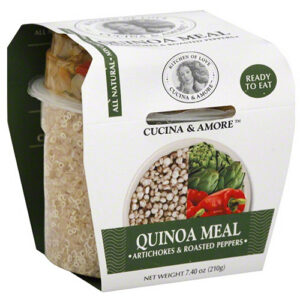 Cucina & Amore Artichoke & Roasted Peppers Quinoa Meal, 7.9 oz, (Pack of 6)