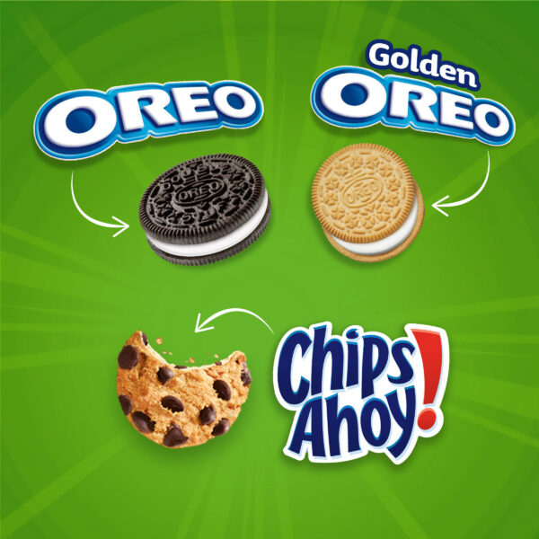 Nabisco Sweet Treats Cookie Variety Pack OREO, OREO Golden & CHIPS AHOY!, 30 Snack Packs